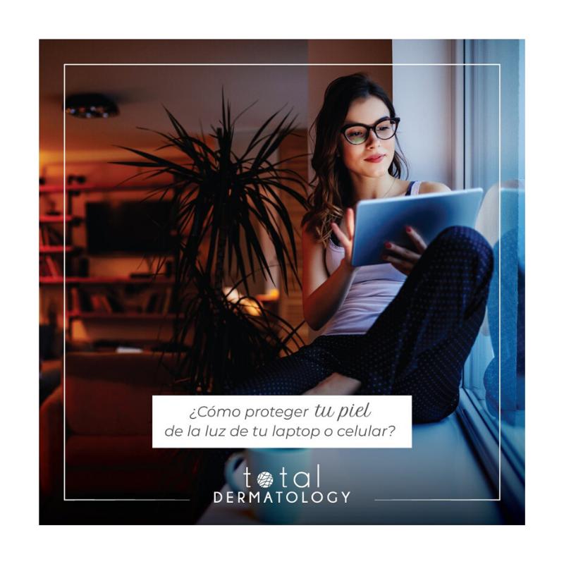 ¿Cómo proteger tu piel de la luz azul que emiten los dispositivos electrónicos?